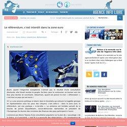 Le référendum, c'est interdit dans la zone euro