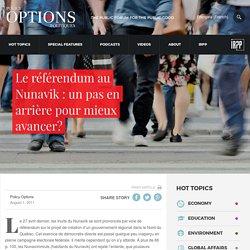 Le référendum au Nunavik : un pas en arrière pour mieux avancer?