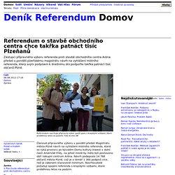 Referendum o stavbě obchodního centra chce takřka patnáct tisíc Plzeňanů