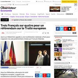 Euro : trois Français sur quatre pour un référendum sur le Traité