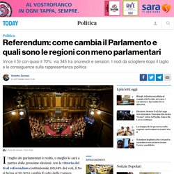 Referendum: come cambia il Parlamento e quali sono le regioni con meno parlamentari