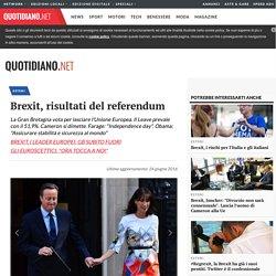 Brexit, risultati del referendum - Esteri - quotidiano.net