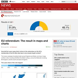 EU referendum: The result in maps