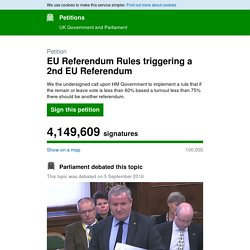 EU Referendum Rules triggering a 2nd EU Referendum