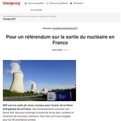 Pour un référendum sur la sortie du nucléaire en France