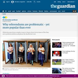 Why referendums are problematic – yet more popular than ever
