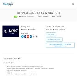 Référent B2C & Social Media (H/F) – MyCM Jobs