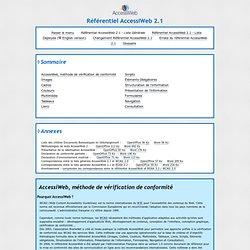 Référentiel AccessiWeb 2.1 - Liste Générale