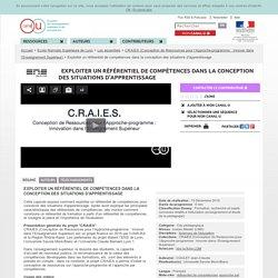 Exploiter un référentiel de compétences dans la conception des situations d'apprentissage - Ecole Normale Supérieure de Lyon