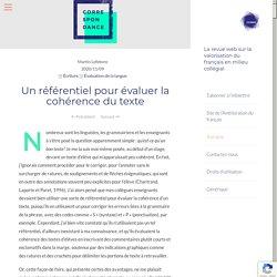 Un référentiel pour évaluer la cohérence du texte – Correspondance