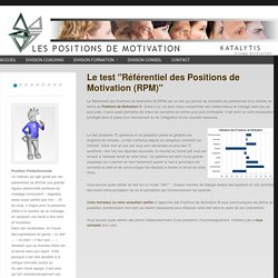"Le test ""Référentiel des Positions de Motivation (RPM)"""
