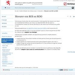 Mesurer son ROI ou ROO - Réferentiel de normalisation web - Renow // Luxembourg - Evaluation