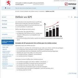 Définir ses KPI - Réferentiel de normalisation web - Renow // Luxembourg - Evaluation