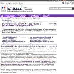 Culture numérique - Le référentiel CNIL de formation des élèves à la protection des données personnelles