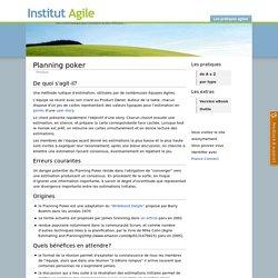 Planning poker - Référentiel des pratiques Agiles