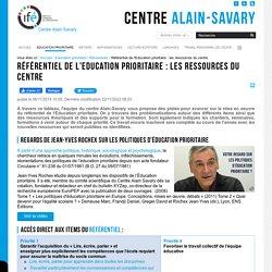 Référentiel de l'Education prioritaire : les ressources du centre