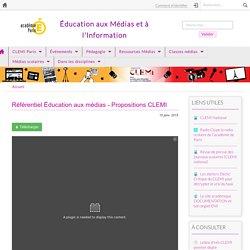 Référentiel Éducation aux médias - Propositions CLEMI
