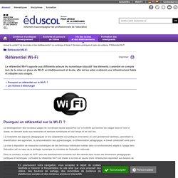 Référentiel Wi-Fi sur Eduscol
