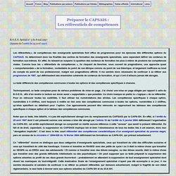 B.O. spécial du 8 mai 1997 : Référentiels de compétences des enseignants spécialisés