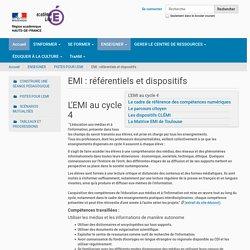 EMI : référentiels et dispositifs — Site Prof-doc