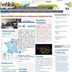 Site de la DANE et des référents numériques de l'académie de Lille — site des référents numériques de l'Académie de Lille