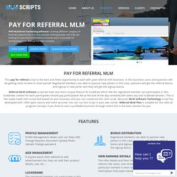 Referral MLM Software, MLM Software Technology, Referral MLM Plan
