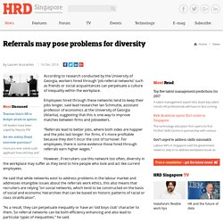 Referrals may pose problems for diversity