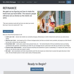 Refinance – Get a Better Mortgage