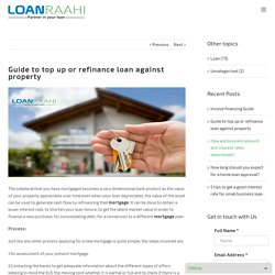 Guide to top up or refinance loan against property