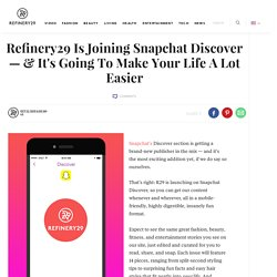 Snapchat Discover Channel Launch