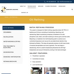Oil Refining - Kumar Metal Industries