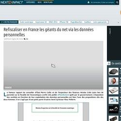 Refiscaliser en France les géants du net via les données personnelles