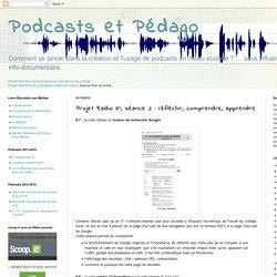 Podcasts et Pédago: Projet Radio 6°, séance 2 : réfléchir, comprendre, apprendre