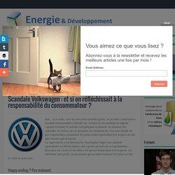 Scandale Volkswagen : et si on réfléchissait à la responsabilité du consommateur ? ~ Energie et développement durable, par Thibault Laconde