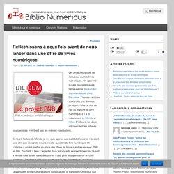 Réfléchissons à deux fois avant de nous lancer dans une offre de livres numériques – Biblio Numericus