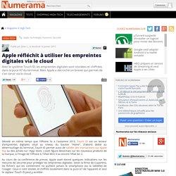Apple réfléchit à utiliser les empreintes digitales via le cloud