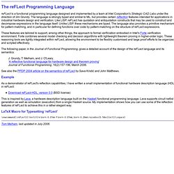The reFLect Programming Language