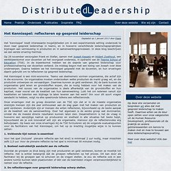Het Kennisspel: reflecteren op gespreid leiderschap « Distributed leadership