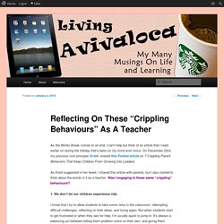 "Reflecting On These ""Crippling Behaviours"" As A Teacher"