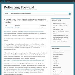 A tenth way to use technology to promote reading