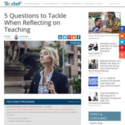Reflecting on Teaching
