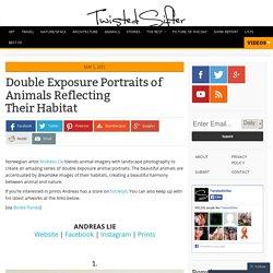 Double Exposure Portraits of Animals Reflecting Their Habitat