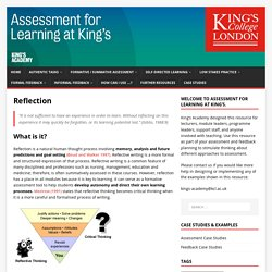 Reflection – Assessment for Learning at King's