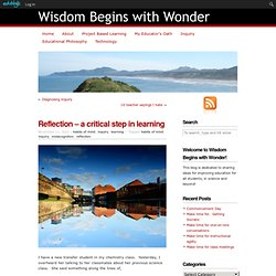 Reflection – a critical step in learning