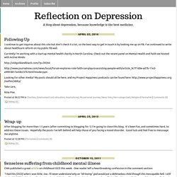 Reflection on Depression