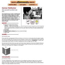 Corner Reflector: Math, Reflection & Light Science Project