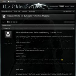 Tips and Tricks for Bump and Reflection Mapping - Morrowind Mods