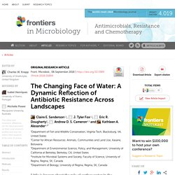 FRONT. MICROBIOL 06/09/18 The Changing Face of Water: A Dynamic Reflection of Antibiotic Resistance Across Landscapes