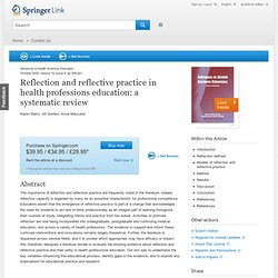Reflection and reflective practice in health professions education: a systematic review