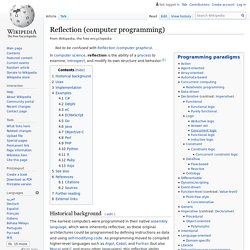 Reflection (computer programming)